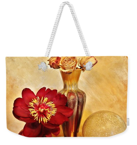 Gold And Red Still Life Weekender Tote Bag