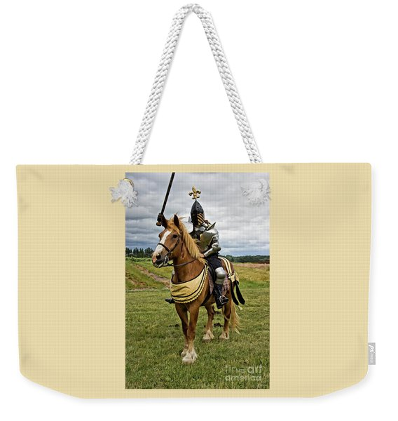 Gold And Silver Knight Weekender Tote Bag