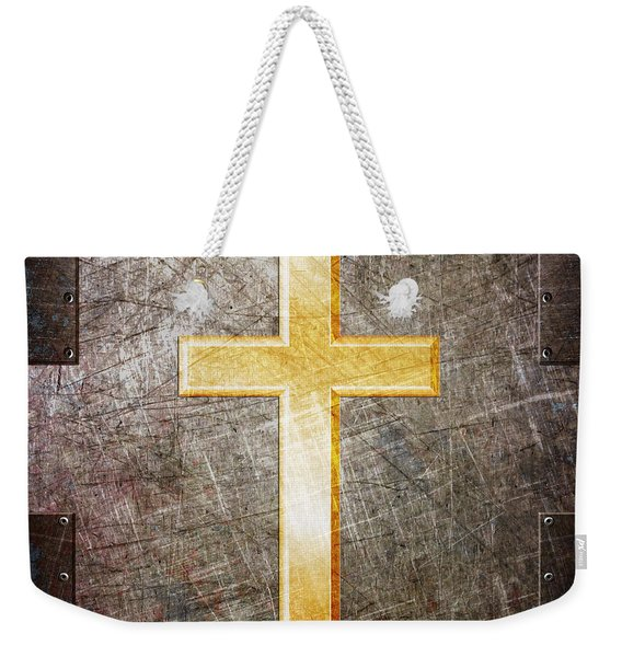 Gold And Silver Weekender Tote Bag