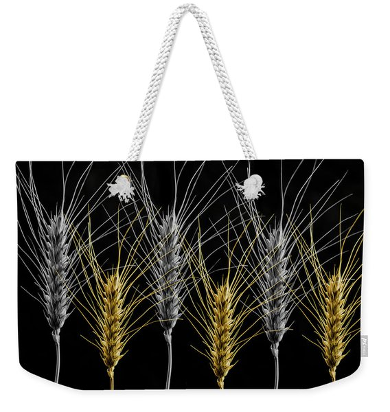 Gold And Silver Wheat Weekender Tote Bag