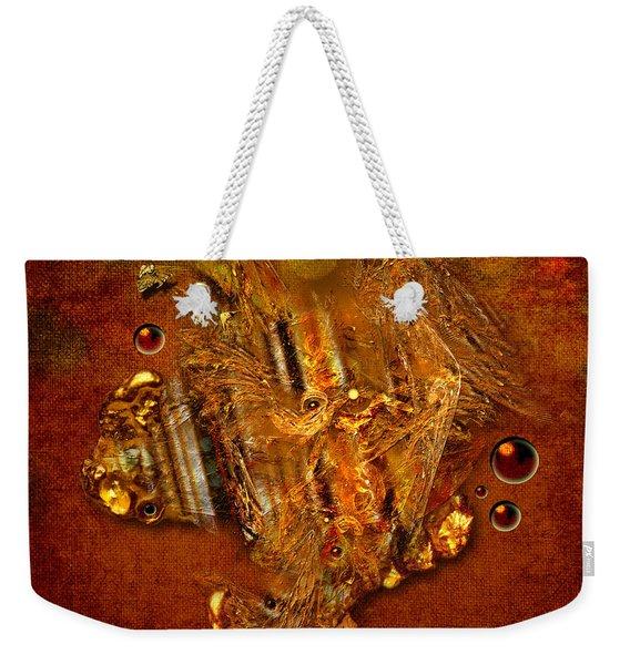 Gold Angel Weekender Tote Bag