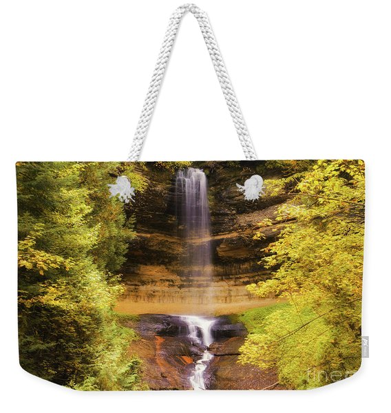 Gold At Munising Falls Weekender Tote Bag