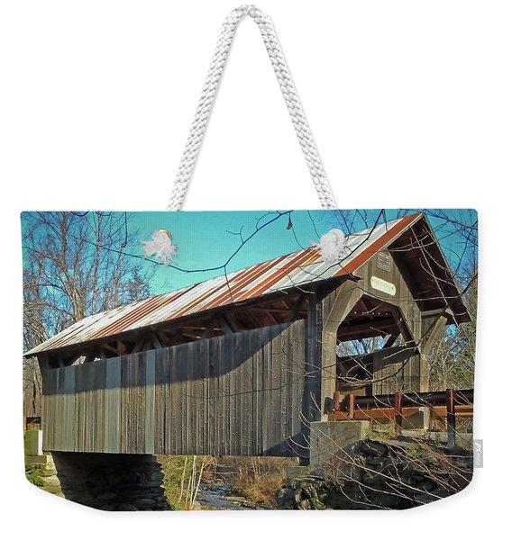 Gold Brook Bridge Weekender Tote Bag