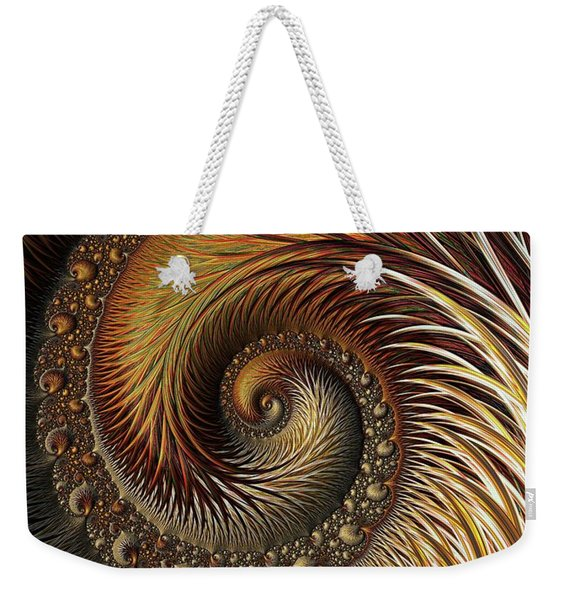 Gold Feather Weekender Tote Bag