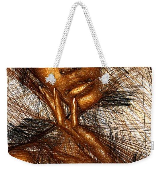 Gold Fingers Weekender Tote Bag
