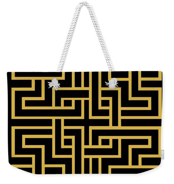 Gold Geo 6 Weekender Tote Bag