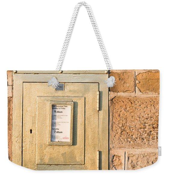 Gold Post Box Weekender Tote Bag