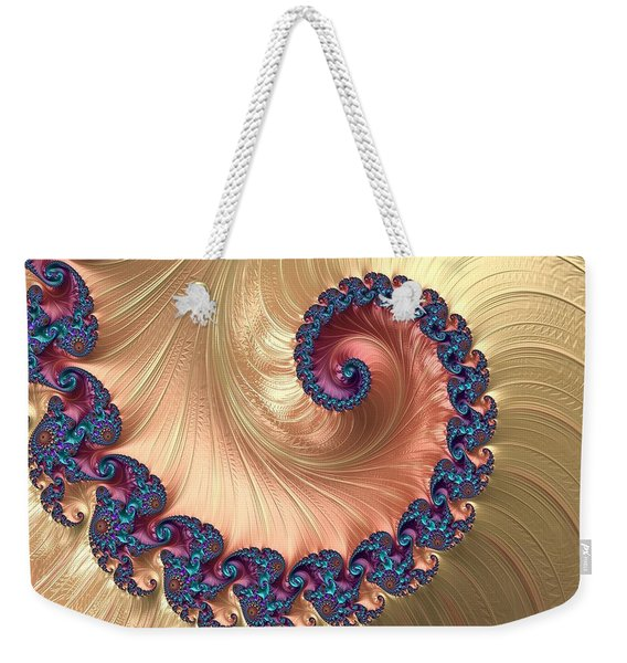 Gold Spiral With Passion Abstract Weekender Tote Bag