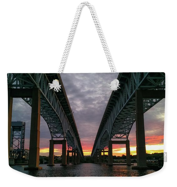 Gold Star Bridge Sunset 2016 Weekender Tote Bag