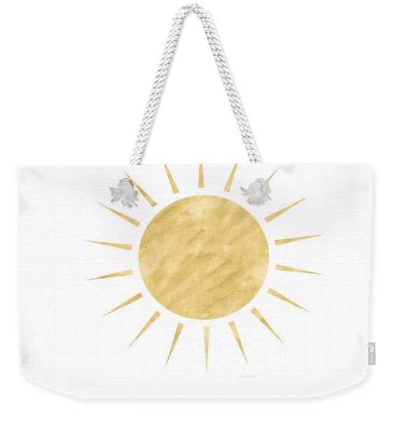 Gold Sun- Art By Linda Woods Weekender Tote Bag