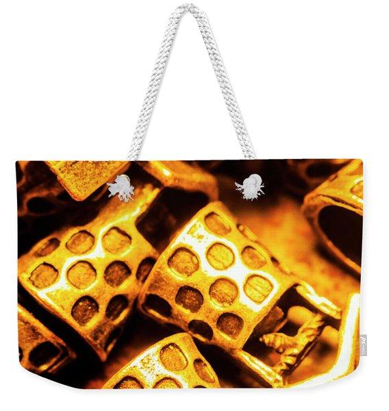 Gold Treasures Weekender Tote Bag