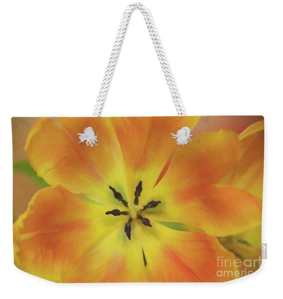 Gold Tulip Explosion Weekender Tote Bag