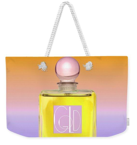 Gold Yellow Art Deco Perfume Weekender Tote Bag