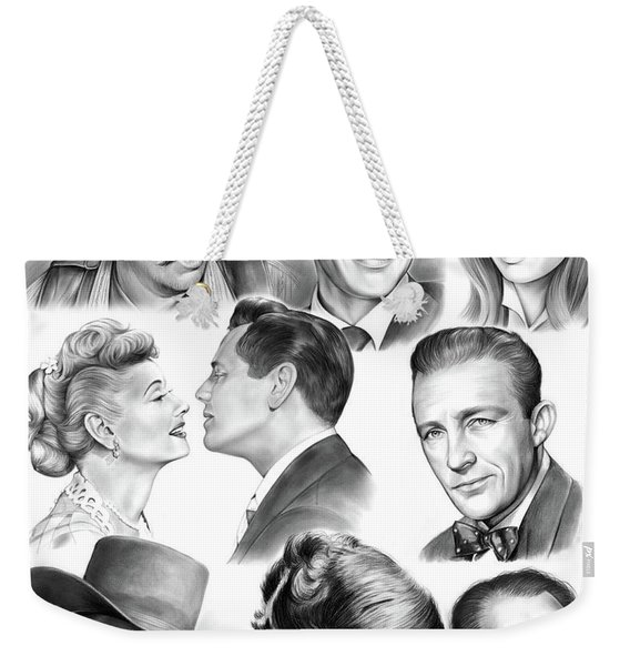 Golden Age Montage Weekender Tote Bag