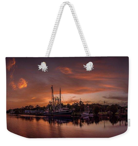 Golden Bayou Sunset Weekender Tote Bag
