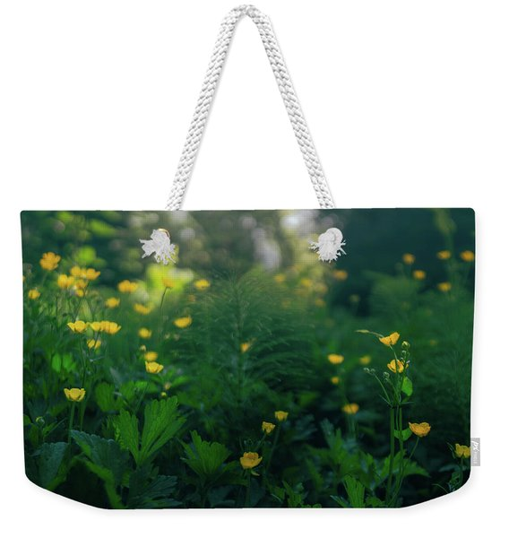 Golden Blooms Weekender Tote Bag