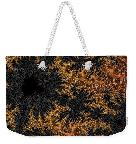 Golden Branching Moss Weekender Tote Bag