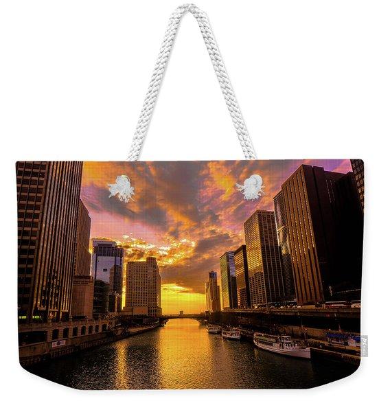 Golden Chi Weekender Tote Bag