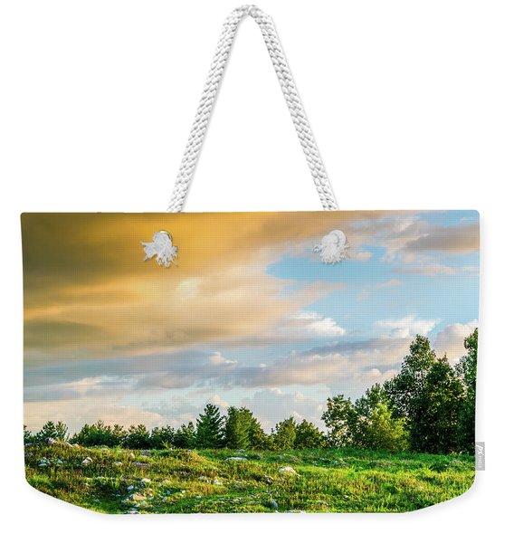 Golden Clouds Weekender Tote Bag