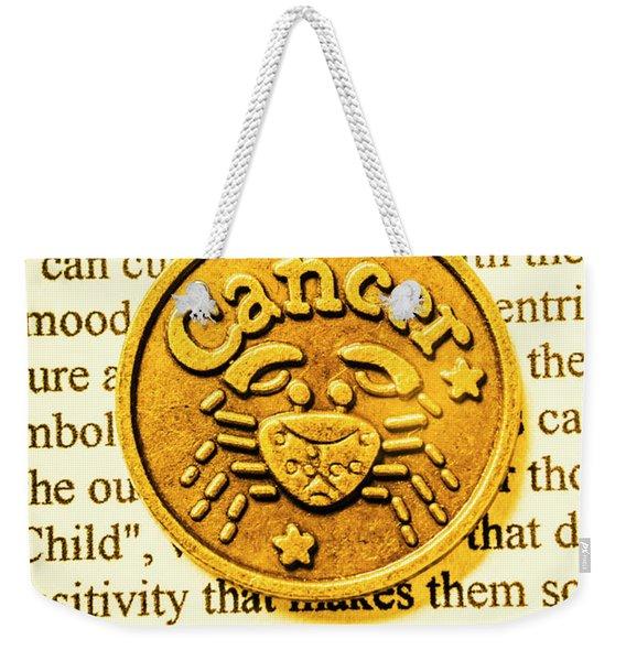 Golden Crab Cancer Weekender Tote Bag