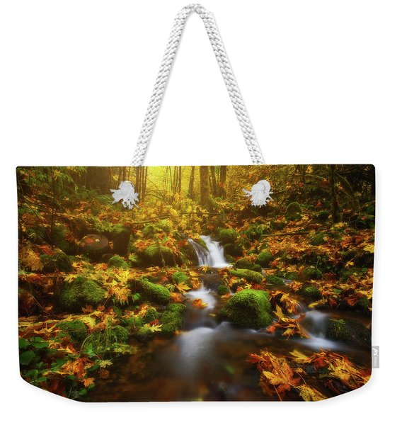 Golden Creek Cascade Weekender Tote Bag