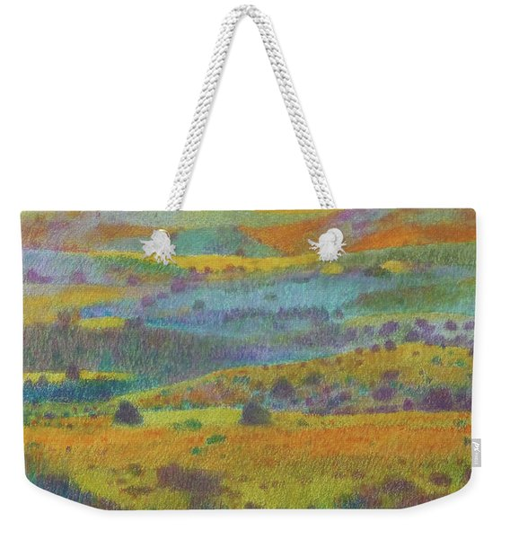 Weekender Tote Bag featuring the painting Golden Dakota Day Dream by Cris Fulton