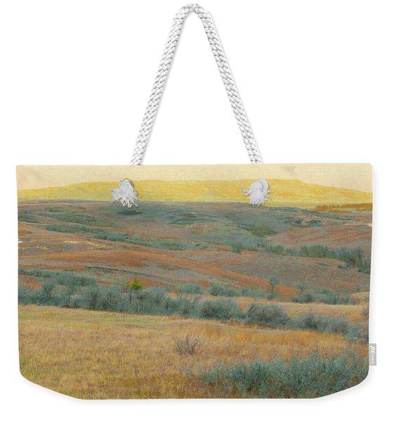Weekender Tote Bag featuring the photograph Golden Dakota Horizon Dream by Cris Fulton