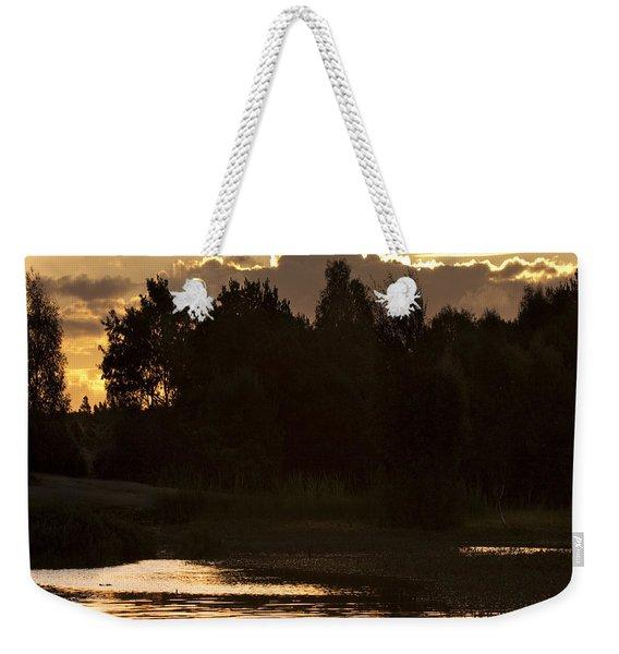 Golden Evening Weekender Tote Bag