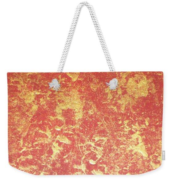 Golden Flames Weekender Tote Bag