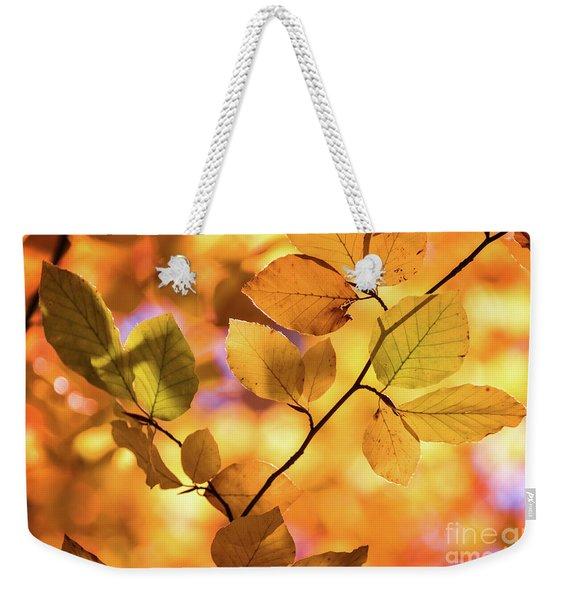 Golden Foliage Weekender Tote Bag