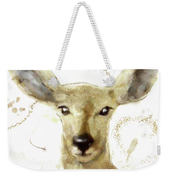Golden Forest Deer Weekender Tote Bag