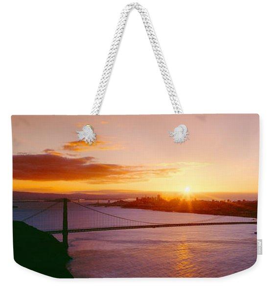 Golden Gate & San Francisco From Marin Weekender Tote Bag