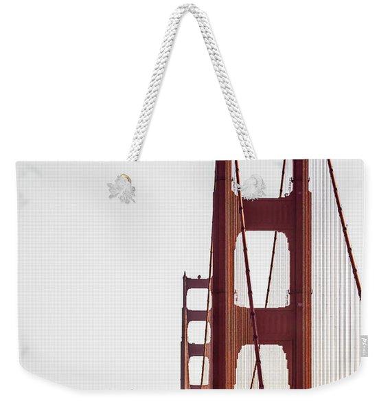 Golden Gate Black And Red Weekender Tote Bag