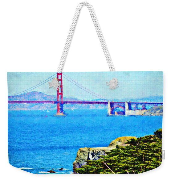 Golden Gate Bridge From The Coastal Trail Weekender Tote Bag