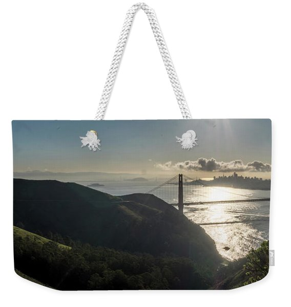 Golden Gate Bridge From The Road Up The Mountain Weekender Tote Bag