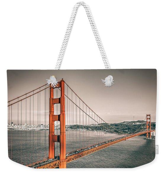 Golden Gate Bridge Selective Color Weekender Tote Bag