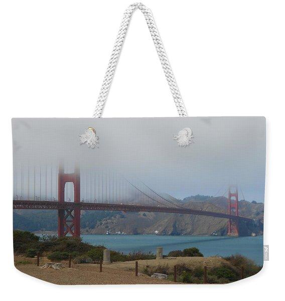 Golden Gate In The Clouds Weekender Tote Bag