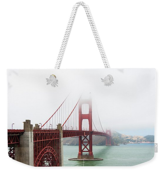 Golden Gate In The Fog Weekender Tote Bag