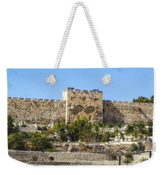 Golden Gate Jerusalem Israel Weekender Tote Bag
