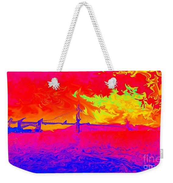 Golden Gate Mod Pop Weekender Tote Bag