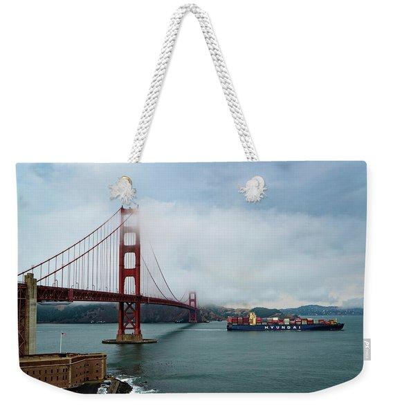 Golden Gate Ship Weekender Tote Bag