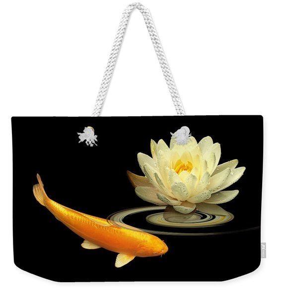 Golden Harmony - Koi Carp With Water Lily Weekender Tote Bag