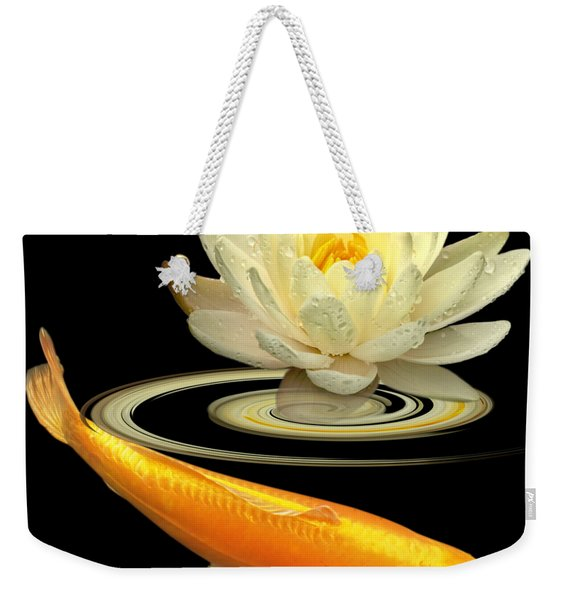 Golden Harmony Square Weekender Tote Bag