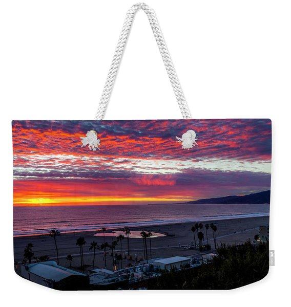 Golden Horizon At Sunset -  Panorama Weekender Tote Bag