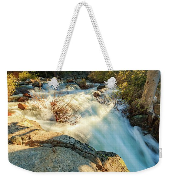 Golden Hour Atop Upper Eagle Falls Weekender Tote Bag