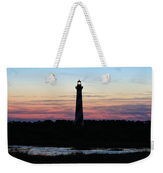 Golden Hour, Cape Hatteras Light Weekender Tote Bag