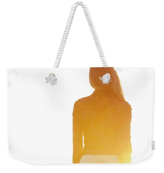 Golden Hour Girl Weekender Tote Bag