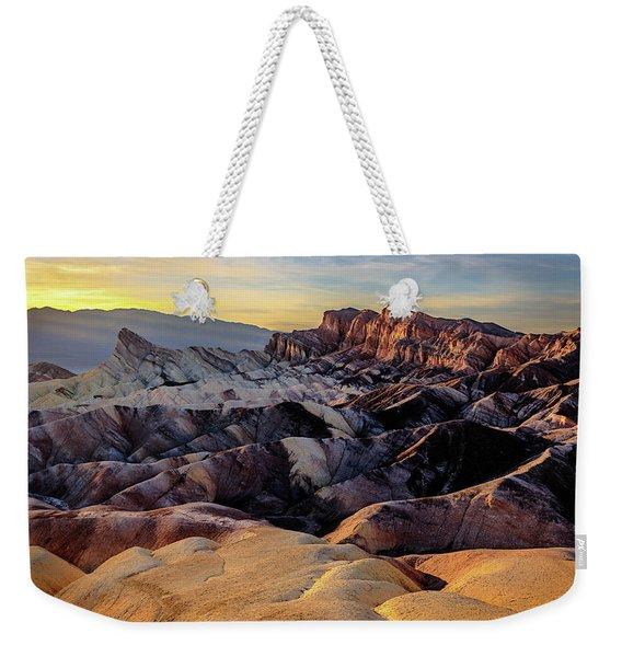 Golden Hour Light On Zabriskie Point Weekender Tote Bag