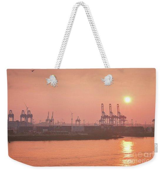 Golden Hour On The Elbe Weekender Tote Bag