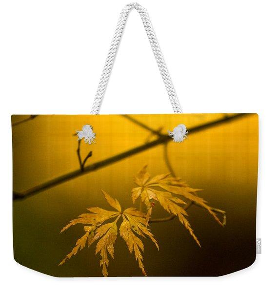 Golden Leaves Weekender Tote Bag